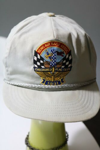 Reno Air Race Association  Baseball Cap Hat 1991 Checkered Flag Club