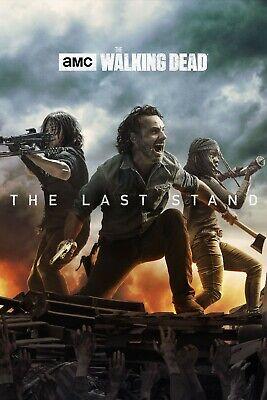 The Walking Dead Poster - Season 8 - Rick Daryl Michonne - 11x17 - 13x19 - NEW