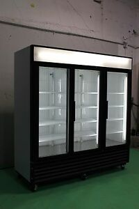 TRUE GDM 72 & 72F THREE GLASS DOOR COOLERS & FREEZERS