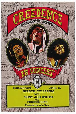 1970's Rock: Creedence Clearwater Revival  at Shreveport LA. Concert Poster 1972