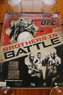 Used, UFC 135 GEARS OF WAR POSTER - pride mma ufc for sale  Shipping to Canada
