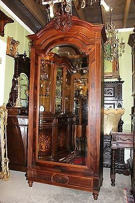 french antique henry ii single door armoire carved. Black Bedroom Furniture Sets. Home Design Ideas