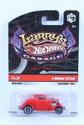 HOT WHEELS LARRY'S GARAGE 3-WINDOW '34 W/ GREY HUB WHEEL ERROR VERY NICE