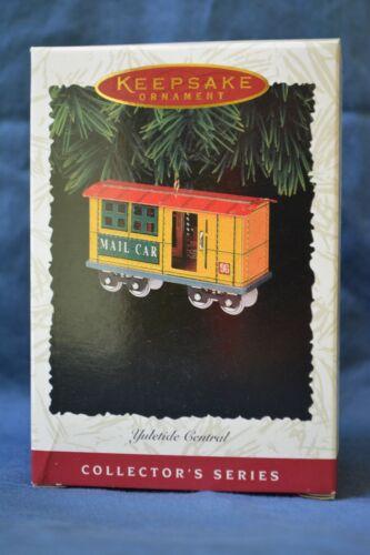 Hallmark 1996 3rd in Series Yultide Central Mail Train Car Ornament NIB