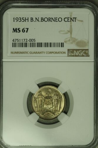 British North Borneo 1935H Cent NGC MS67 !