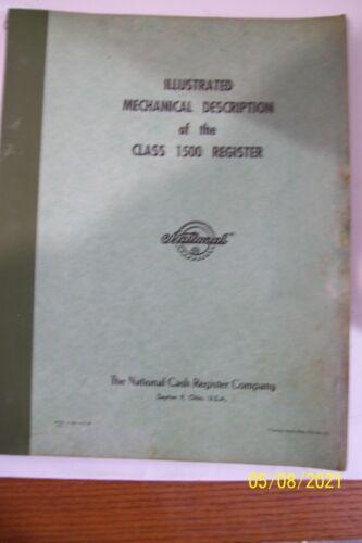 Vintage National Cash Register Class 1500 Service Manual