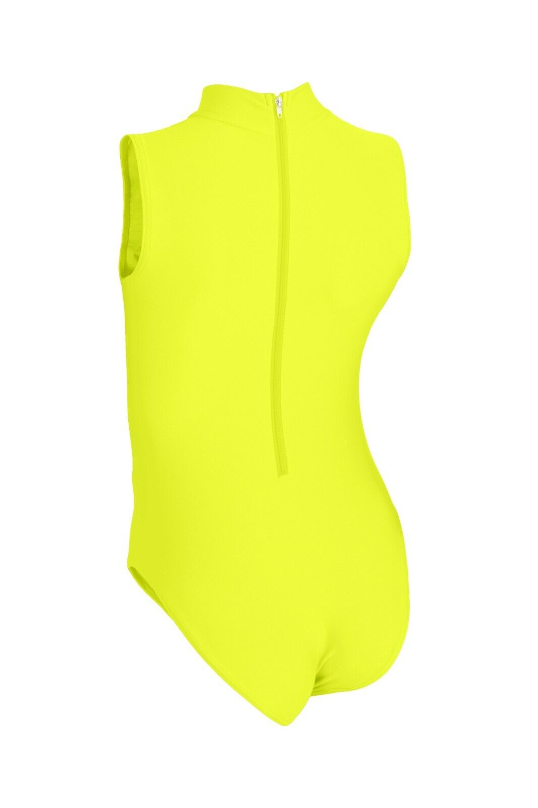 Damen Glanz Body ohne Ärmel Rücken-RV stretch shiny glänzend elastisch S bis XXL