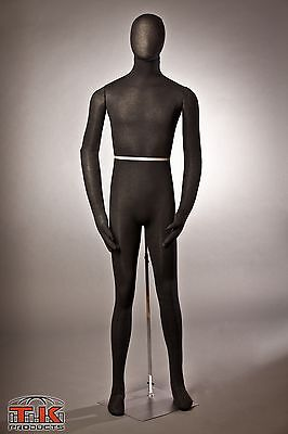 Mannequin Flexible Posable Full Size Male Black For Displays Costumes