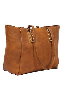 Women's Medium Faux Leather Tote Bag By Sasha Handbags Faux Leather Medium Tote Bag