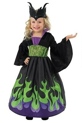 Dragon Costume For Girls (NEW Chasing Fireflies Girls Malifacent Dragon Queen Costume Dress Up Small 1)