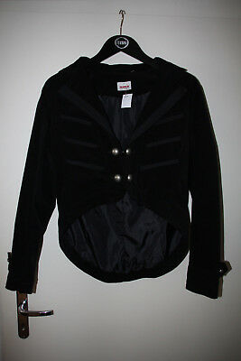 Schwarze Korsarenjacke von Colours of the World, Gr. 38 (Gothic/Piraten)