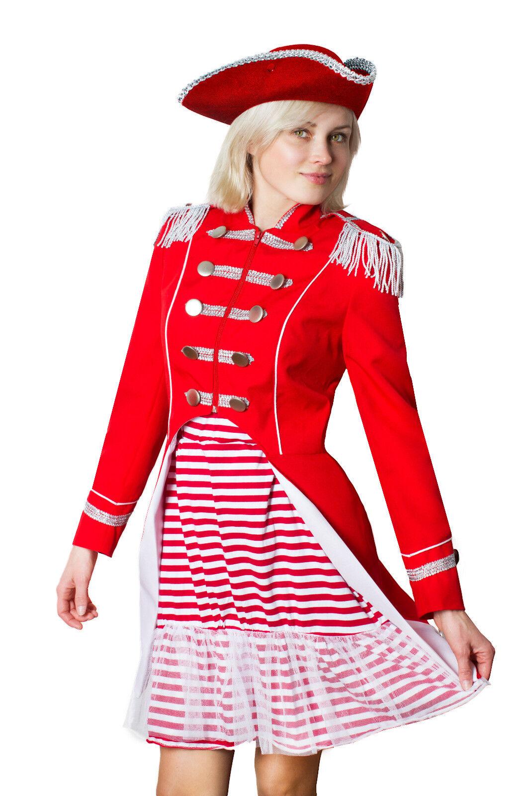 Karnevalskostüm Soldat Napoleon Damen Jacke Uniform Fasching Gehrock Köln 36-50