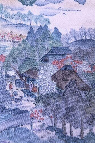 @@168 cm x 35 cm  Japanese kimono silk fabric/ Chirimen crepe/ Misty Rose G55