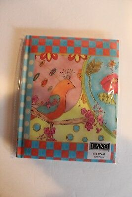 NEW LANG bird flower journal 6 x 7.5 x .5 inch