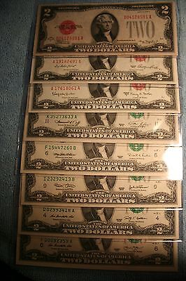 2 Dollar Bills Frn 1928 1953 1963 1976 1995 2003 2009 2013 Every Small Note Made