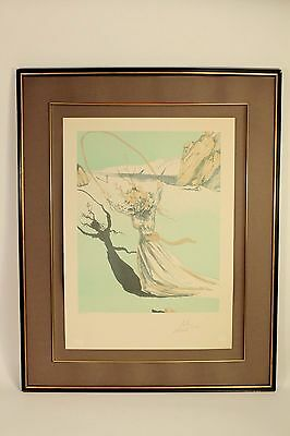 Salvador Dali Signed Lithograph HC 14/65 Art Print Transcendent Passage w/ COA