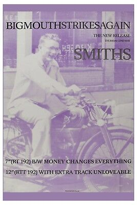 The Smiths: * BigMouth Strikes Again *  Promotional Poster Release 1986