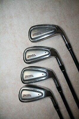 Nickent Genex 3DX Oversize Irons 5 thru 8 with Regular Flex Graphite Shafts ()