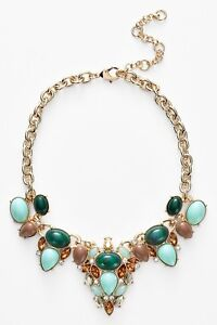 Lee by Lee Angel Womens Stone Bib Necklace Nordstrom Exclusive Turq NWT $98