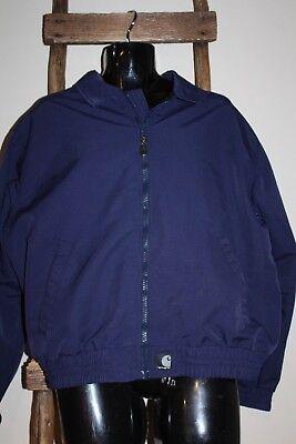 (VINTAGE 90's?~Men's~CARHARTT~Navy Blue~SOFT SHELL~Nylon~JACKET~J73~Regular XL)