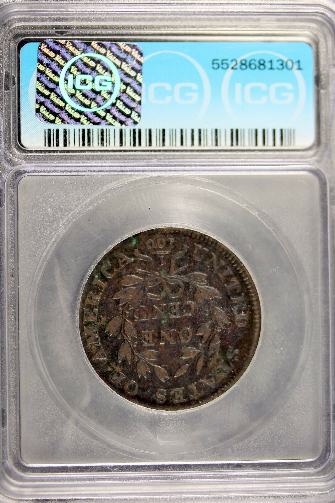 1800 - ICG F12 DETAILS (CORRODED,DAMAGED) LARGE CENT DRAPED BUST!!  #B18758