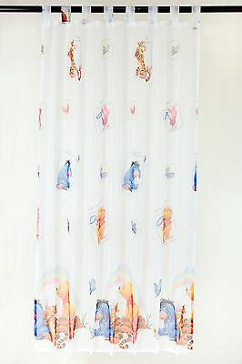 Rovitex Disney Winnie Pooh Kinder Schlaufenschal Gardine Vorhang weiss 145 x 245