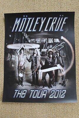 Nikki Sixx Mars Neil Signed Motley Crue KISS The Tour 2012 Poster Autographed