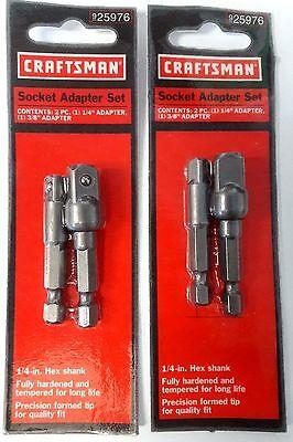 Craftsman 25976 Socket Adapter Set 1/4
