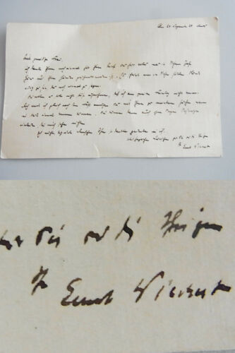 Schriftsteller Ernst WIECHERT (1887-1950) signierter Brief 1929 an Lisbeth KROLL