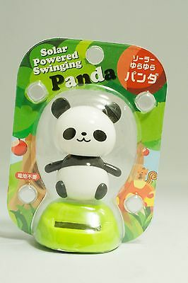 Panda solar powered swinging bobblehead Japanese Plastic wobble toy novelty