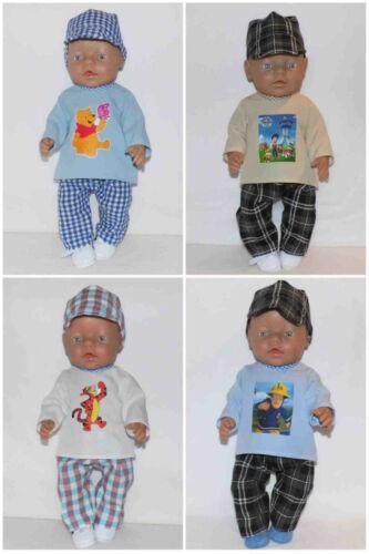 Puppenkleidung für  43 cm Puppe z.B. Baby Born 4 x Kleidung BOY Nr.301
