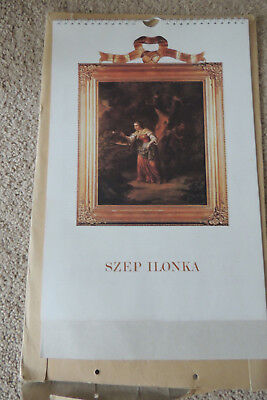 Magyar Naptar / Hungarian 1988 SZEP ILONKA ,FAIR HELEN, POEM IN 4 LANGUAGE