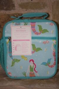 NWT Pottery Barn Kids Girls Mackenzie Classic LUNCH BOX BAG Mermaids NEW