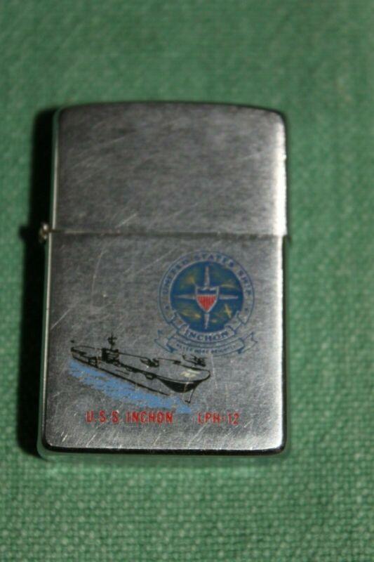 USS Inchon Navy Zippo 1984
