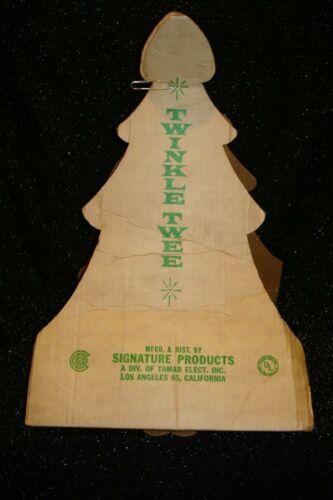Vintage Christmas Twinkle Twee Econolite Original Packaging - Only