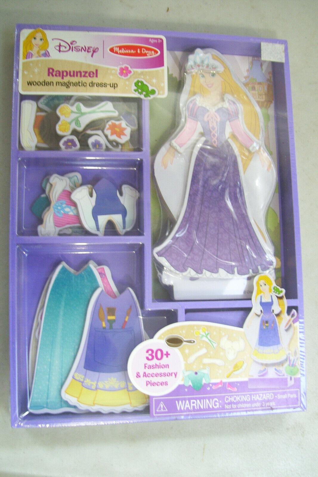Melissa & Doug Disney Rapunzel Wooden Magnetic Dress-Up Set