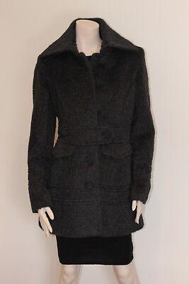 Women's fine baby alpaca suri coat, M, dark charcoal, new, peruvian made for sale  Laval