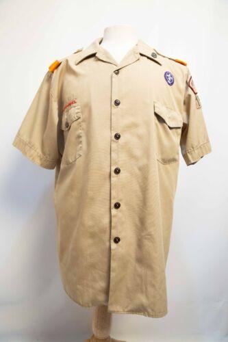 Boy Scouts Official Tan Short Sleeve Shirt Uniform  Mens XL