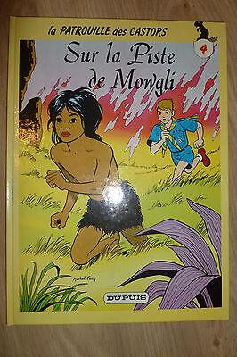 BD la patrouille des castors n°4 sur la piste de mowgli cartonné 1986 TBE mitacq
