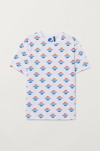 70s 80s Vintage PEPSI Logo T-Shirt | Adult XL | All Over Print | Free Shipping