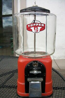 "1940's Victor Topper Gumball Machine with ""RARE"" Cast Aluminum base Beautiful !"