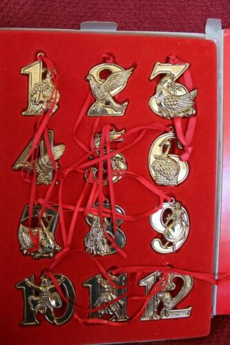 12  DAYS OF CHRISTMAS ORNAMENT  COLLECTION SOLID BRASS