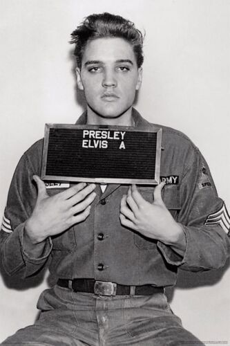 ELVIS - ARMY ENLISTMENT PHOTO POSTER - 24x36 - 241396