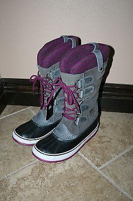NIB New Sorel Joan of Arctic Knit Boots Shale Size