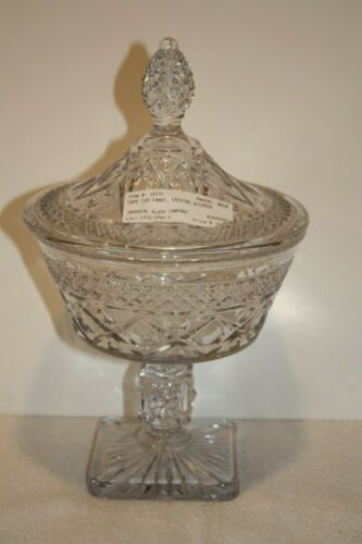 Imperial Cape Cod crystal Footed Candy with Lid
