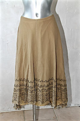 Luxurious Skirt Superimposed Fishnet Camel Lilith SIZE S 36 I 40 Mint