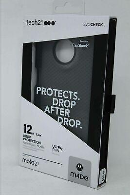 Tech21 Evo Check Case Cover for Moto Z3 & Z3 Play - Smoke/Black - NEW (Moto Check)
