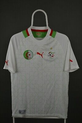 Algeria National Team 2012/2014 Home Football Shirt Puma Jersey Size S image