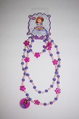NWT Disney Store Sofia the First Costume Dress Up Necklace and Bracelet Set 3 - Disney Sofia Dress Up Costume