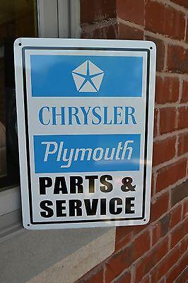 Plymouth Parts Service SIGN Mopar Hemi Jeep Charger Mechanic Garage Shop 7day